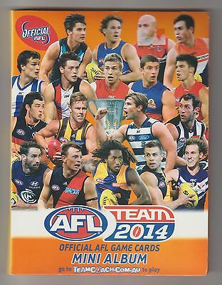 *** ONE CENT RESERVE *** 2014 AFL TEAM MINI ALBUM for OFFICAL AFL GAME CARDS