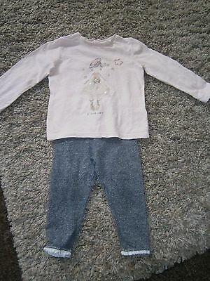 Next Baby Girls Long Sleeved Top And Leggings Aged 12-18 Months