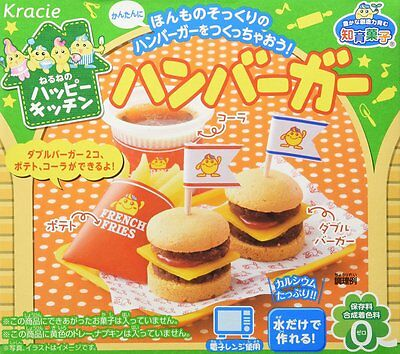 kracie popin cookin happy kitchen Japanese candy making DIY kit Hamburger JAPAN