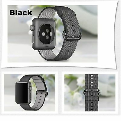 Apple Watch 42mm Woven Nylon Black Compatible Replacement
