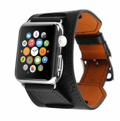 Apple Watch 38mm Designer Wide Tour Black Compatible Replacement