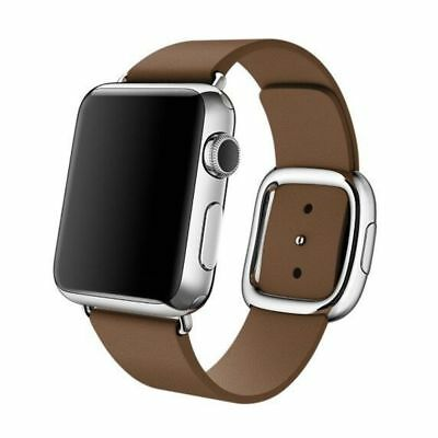 Apple Watch Genuine Leather 38mm Brown Modern Buckle Compatible Replacement