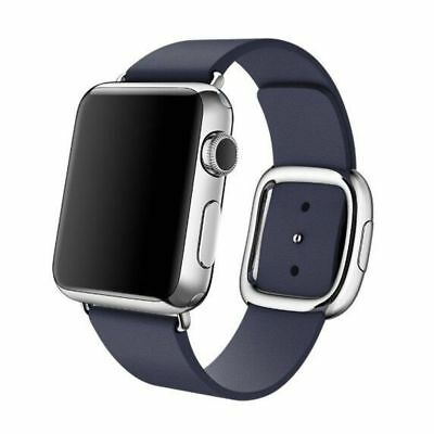 Apple Watch Genuine Leather 38mm Dark Blue Modern Buckle Compatible Replacement
