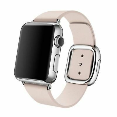Apple Watch Genuine Leather 38mm Pink Modern Buckle Compatible Replacement