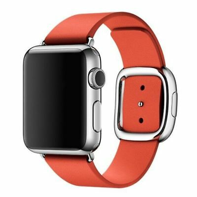 Apple Watch Genuine Leather 42mm Red Modern Buckle Compatible Replacement