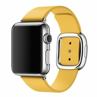 Apple Watch Genuine Leather 42mm Yellow Modern Buckle Compatible Replacement