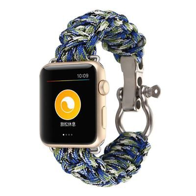 Apple Watch 38mm Green Parachute Cord Compatible Replacement