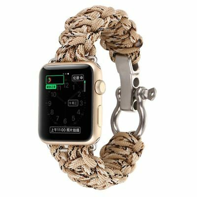 Apple Watch 38mm Brown Parachute Cord Compatible Replacement
