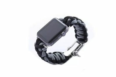 Apple Watch 42mm Grey Parachute Cord Compatible Replacement