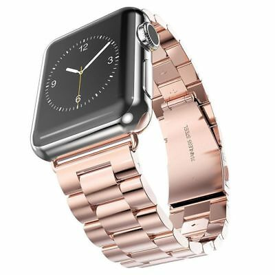 Apple Watch 42mm Link Bracelet Rose Gold Compatible Replacement