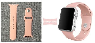 Apple Watch 38mm Compatible Replacement Sports Band Vintage Rose