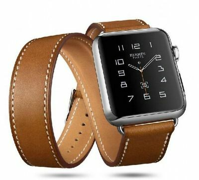 Apple Watch 38mm Designer Double Tour Brown Compatible Replacement