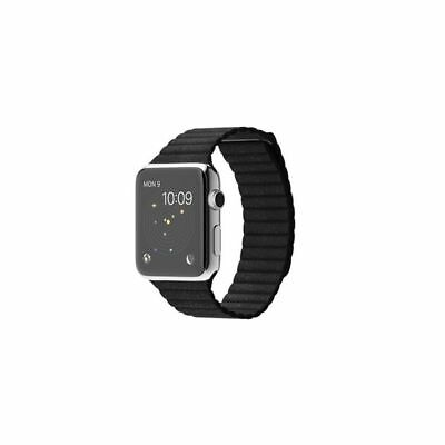 Apple Watch 42mm Leather Loop Black Compatible Replacement
