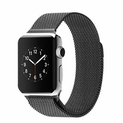 Apple Watch 42mm Milanese Loop Black Compatible Replacement