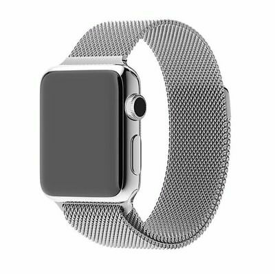 Apple Watch 42mm Milanese Loop Silver Compatible Replacement