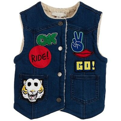 Stella Mccartney Kids Girls Royce Cotton Denim Royce Waistcoat 4 Years