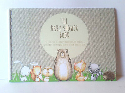 Baby Shower Woodland Animals, Guest Predictions, Gifts, Memories, A5 Siz