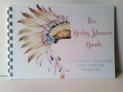 Baby Shower Tribal, Guest Predictions, Gifts, Memories, A5 Siz