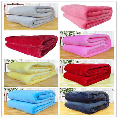 Throws Soft Plush Fleece Blanket Mink Sofa Bed Luxury Queen King Size Warm Large