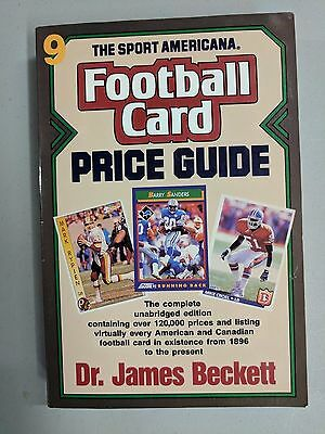NFL SPORT AMERICANA FOOTBALL CARD PRICE GUIDE 9th EDITION