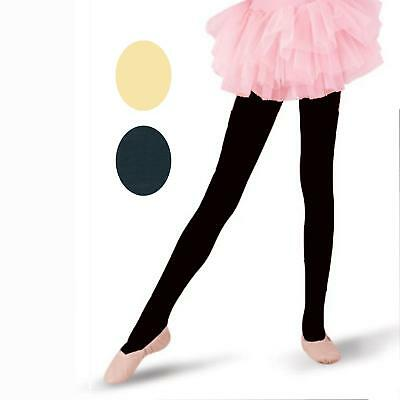 3 Pairs Of Girl's Children's Cotton Opaque Tights With Lycra*
