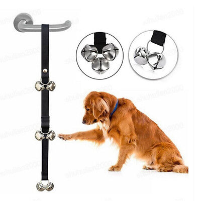 Pet Dog Potty Training Door Bells Rope House training Housebreaking Anti Lost4H0