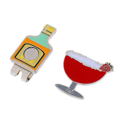 Drinking Cup Magnetic Hat Clip Golf Ball Marker Clip On Golf Cap Visor