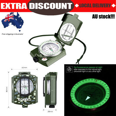 Enkeeo Professional Military Army Metal Sighting Compass Clinometer Camping New