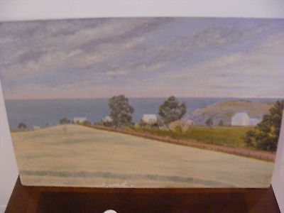 Quality 19th century South Australian painting on board - Vista Landscape