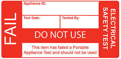 'STRONG' PAT Testing 'FAIL' Label - Roll 250