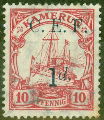 Cameroon C.E.F 1915 1d on 10pf SG83 Fine Used