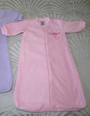 Baby girl winter sleeping bag size 00 zipper cover pink - Discount Post!