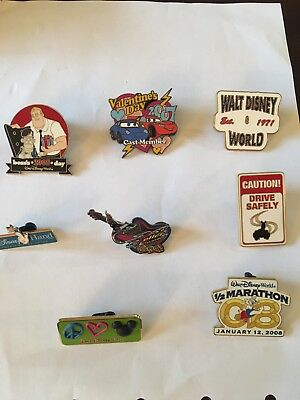 Disney Pins Lot Of 8, Some Limited Edition