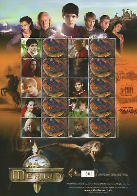 The Adventures of Merlin Collectable Smiler Stamp Sheet BC-293 - Limited Edition