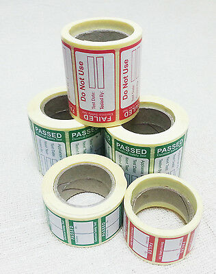 PAT Testing Labels Selection Pack (5 Rolls)