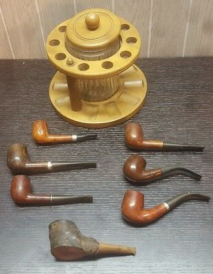Vintage Lot Of ( 7 ) Estate Pipes Briar Danco Frahn Duke of Dundee Hand Made