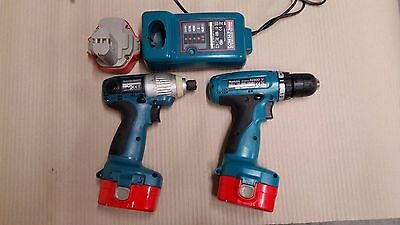 Makita drill set and batteries