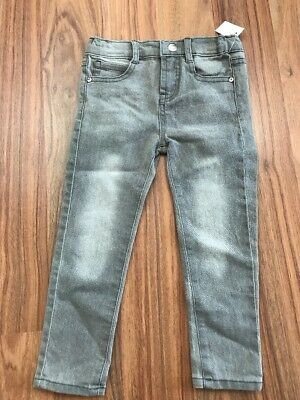JESSICA SIMPSON Gray Skinny Jeans Toddler 3T Stretch Adjustable Waist New NWT