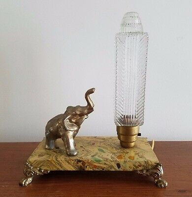 Vintage Elephant Art Nouveau, Boudoir Lamp!  Art Deco!  Retro!