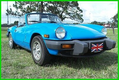 1980 Triumph Spitfire  Classic 1980 Triumph Spitfire Convertible 4-Speed Manul 1500cc 4-Clyinder Engine
