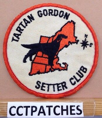 Vintage Tartan Gordon Setter Club Patch