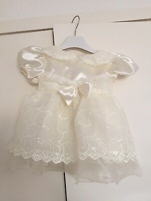 Beautiful Cream Dress 3-6 Months, By 'Baby C', New