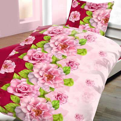mikrofaser bettw sche 135x200 cm 2 teilig 6 teilig floral rosen blumen eur 9 99 picclick de. Black Bedroom Furniture Sets. Home Design Ideas