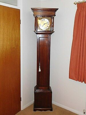 Mahogany Grandfather Longcase Clock – 19th century case with 20thc movement
