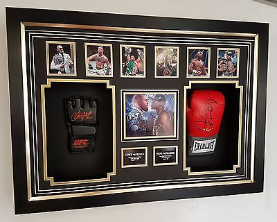 ** Conor Mcgregor and Floyd Mayweather SIGNED GLOVE Autograph Display ***