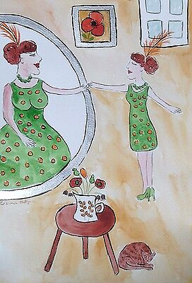 Quirky Large Fridge magnet If only I looked like this!!!!  by Casimira Mostyn