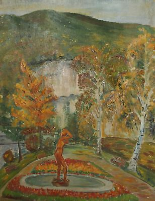 Antique French post impressionist landscape oil painting, signed Lebasque