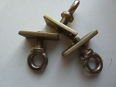 3 Eye Bolts And Bolt Plates New