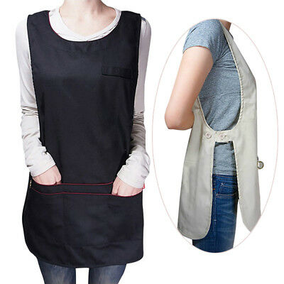 Newest Tabard Work Apron Cafe Unisex Washable Uniforms Supermarket Work-clothes