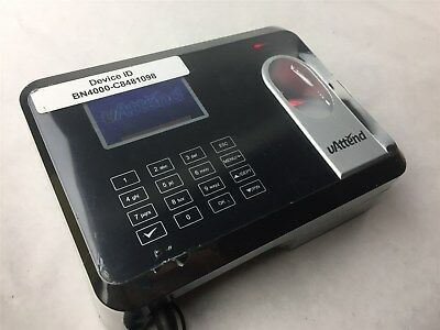 uAttend BN4000 WiFi Biometric Fingerprint Time Clock In Out Employee Management